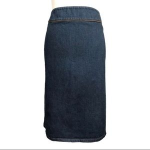 Ann Taylor Suede Trimmed Pencil Fit Jean Skirt